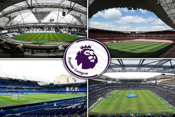 20 สนามพรีเมียร์ลีกอังกฤษ 2017-2018